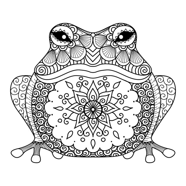 Frog prince adult coloring page