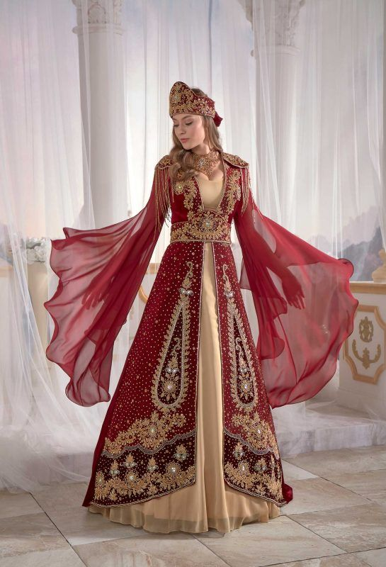 Fancy Red Kaftan Set Beautiful Kaftans Chic Dresses Sophisticated Evening Dress Shops Turkish Wedding Dress Turkish Dress
