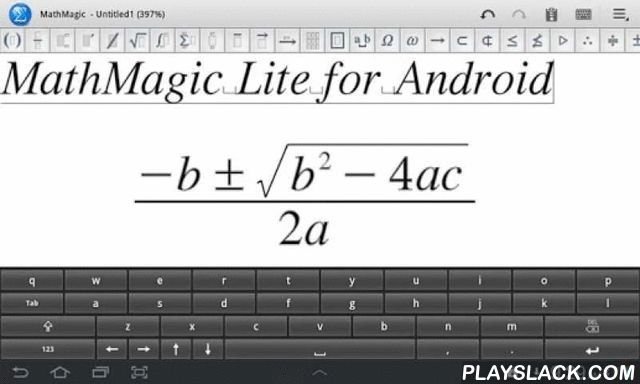 MathMagic Lite  Android App - playslack.com ,  MathMagic Lite is one of the best free equation editors on the planet. MathMagic products have been widely used in higher educations and DTP market since 1998 on both Mac and Windows. MathMagic Lite is an easy to use WYSIWYG equation editor with LaTeX, Wolfram Alpha, and Text-To-Speech support. It lets you enter mathematical Formula, math expressions, and various scientific symbols easily and then use them in your word processors, presentations…
