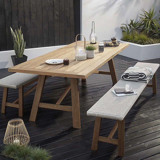 BuyJohn Lewis Stockholm 8   10 Seater Dining Table U0026 Bench Set,  FSC Certified