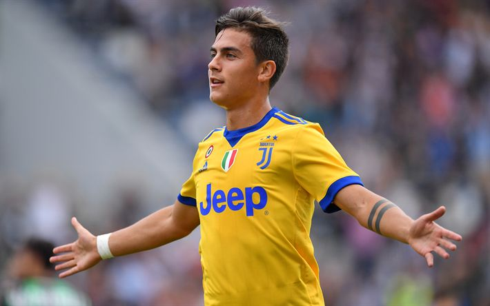 Download wallpapers Paulo Dybala, 4k, goal, Juventus, football, match, footballers, Juve, Italy, Serie A