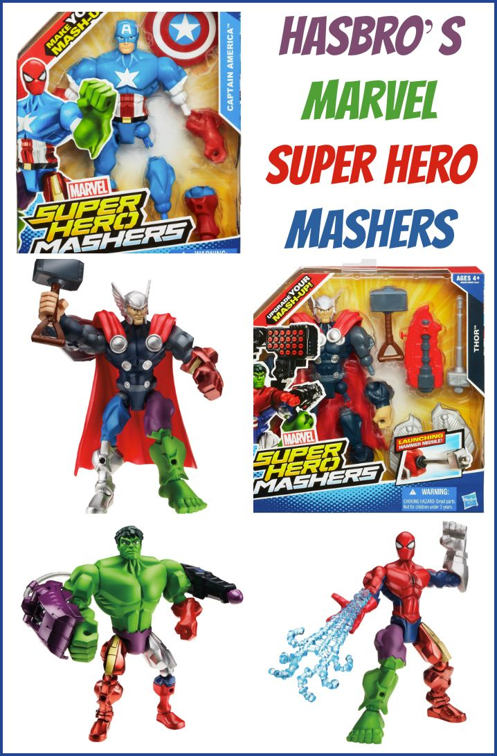 Check out Hasbro's new Marvel Super Hero Mashers!  This is a compensated post through Mom It Forward Blogger Network.   http://printabelle.com/superhero-marvel-mashers  #MyMashUp