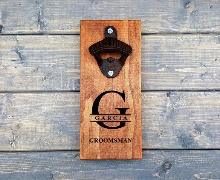 Wall Beer Opener, Wall Bottle Opener, Custom Engraved, Bottle Opener, Beer Opener, Groomsmen, Personalized Wall Bottle Opener, Font, Letter