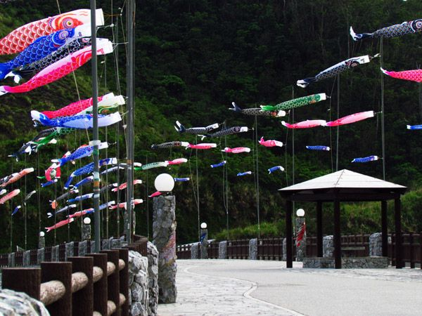 Boys Day flags in Okinawa.....