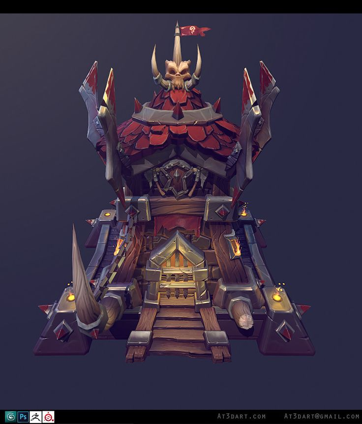 ArtStation - Warcraft Orc Fort , Anthony Trujillo
