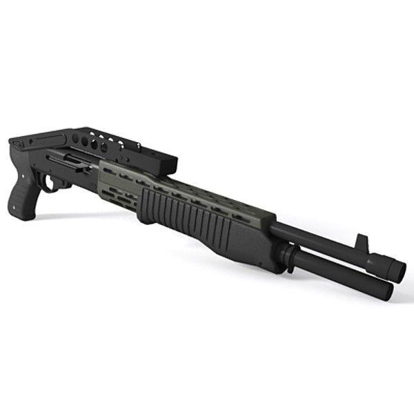 Franchi SPAS-12 | 3d model franchi spas-12 shotgun 12 gauge - SPAS-12 Shotgun... by ...
