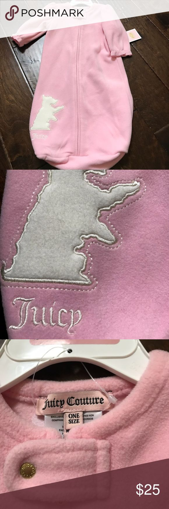 Juicy Couture Blanket Sleeper Brand new girls sleeper blanket used instead of actual blankets to keep baby warm. One Size Juicy Couture Accessories