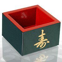 Copo típico japones para degustar o saquê com elegância. Existem dois tamanhos de copo e com cores diversos, veja em AsiaMundi mais sobre o saquê.