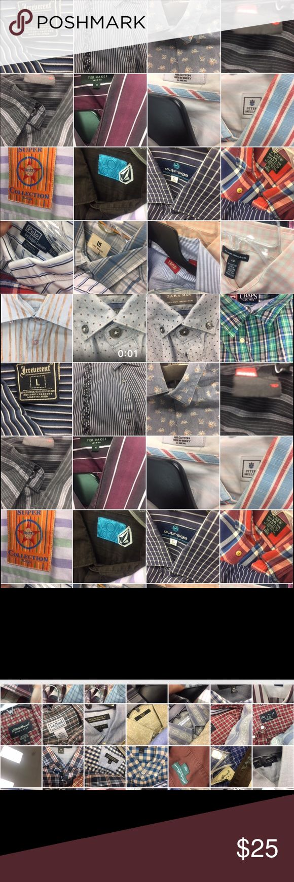 Hello my POSHER VIPS. A SNEAK 10%  preview ( men) Just some very universal fashion demands you put out there, Ted Baker, J. Crew, Banana Republic, Hugo Boss, Hollister, under armor , Patagonia, LL bean, Geoffrey B., Volcom, Nike, Adidas, Converse, u name it. ARMANI, Prada, et al were sent for cleaning just for you! YOUR TASTE  Other