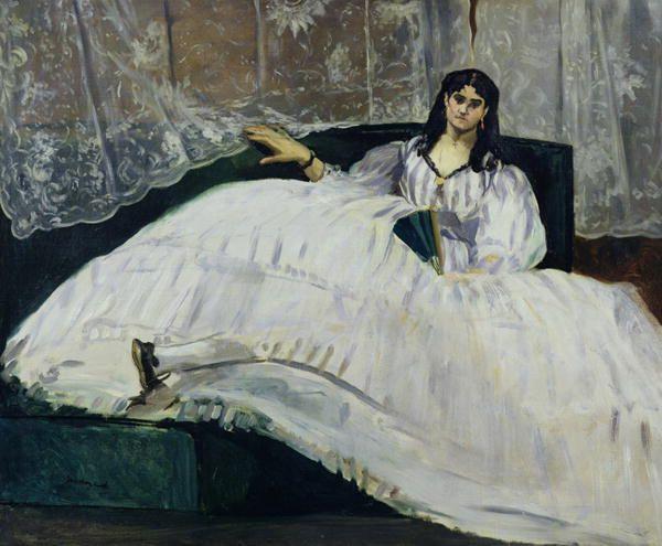 Jeanne Duval Baudeliare's Mistress, Reclining by Edouard Manet .JPG