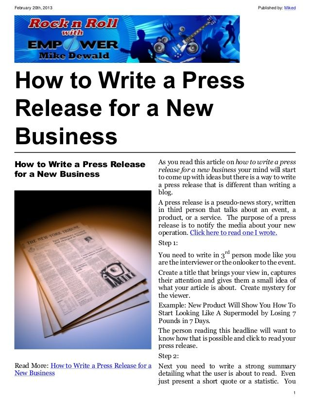 Create an event press release sample that helps you tell your - press release template sample