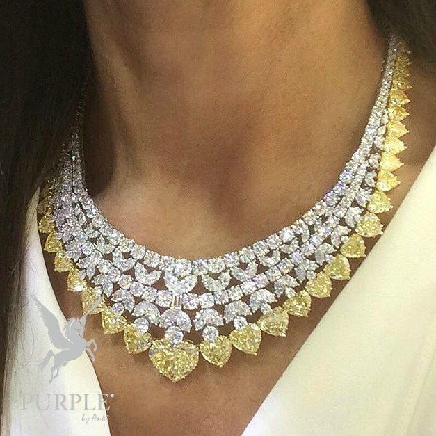 Be classy with this incredible necklace designed by @_________ via @the_diamonds_girl #purplebyanki #love #instagood #beautiful #diamond #finejewellry #highjewellry #SilverAndGold