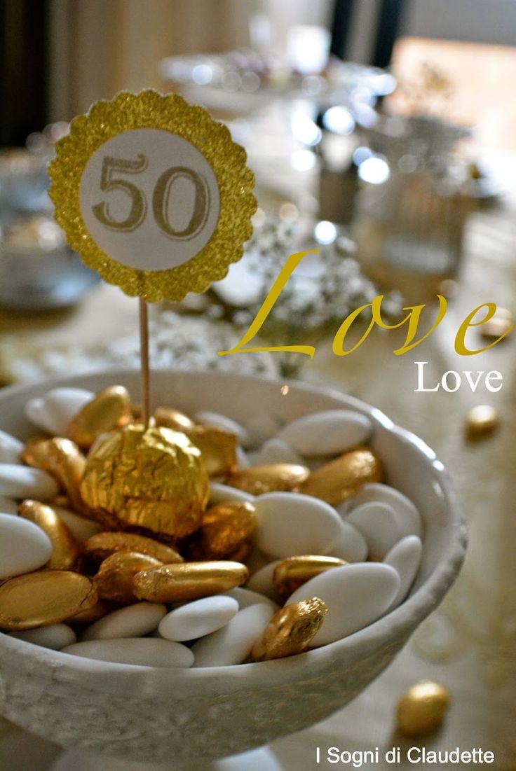 Eccezionale Oltre 25 fantastiche idee su Feste di nozze d'oro su Pinterest  CY71
