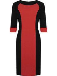 Sukienka z tkaniny Żaneta II, modna kreacja do pracy. Fason wyszczuplający.