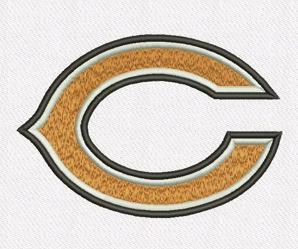 """Chicago Bears embroidery designs. Chicago Bears Logo. Formats: CSD, DST, EXP, HUS, JEF, PES, SHV, VIP, XXX, VP3,   Sizes:  2.96x2.03"""", 3.88x2.65"""", 5.02x3.43""""  Price 2.50$   Contacts: provokator04@rambler.ru"""