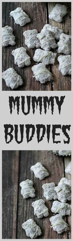Mummy Buddies, perfect for Halloween! Your favorite muddy buddies made spooky!!