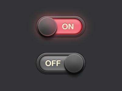 UI / Button by Sunbzy , via Behance