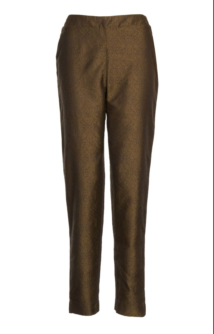 Aab UK Brocade Trousers - Olive : Standard view
