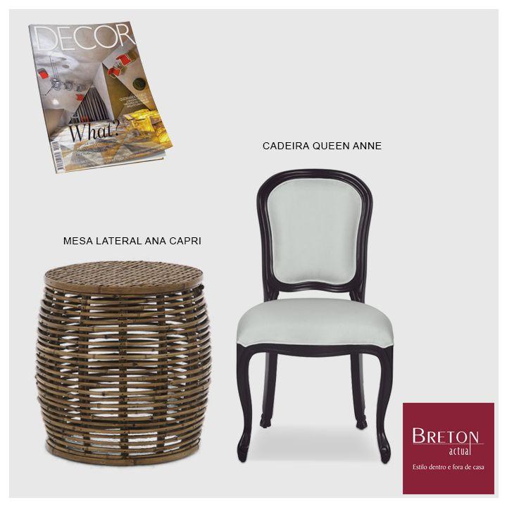 A edição de junho da revista Decor conta com a presença da Breton em duas galerias. Os móveis escolhidos foram a cadeira Queen Ane e a mesa lateral Ana Capri. Ótimas escolhas!  #Breton #BretonActual #Bretonnamídia #RevistaDecor