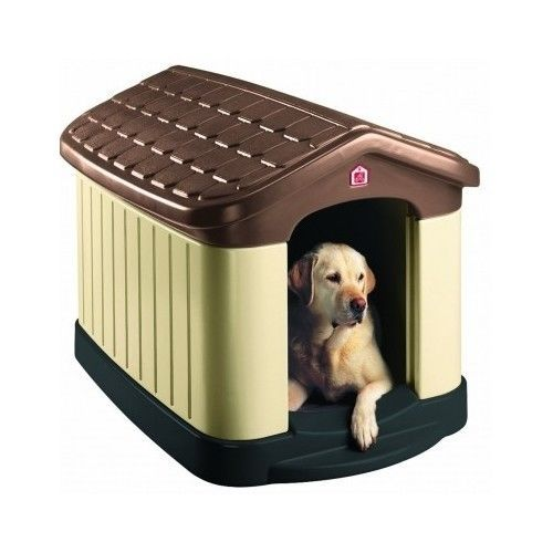 Dog House Insulated Medium Large Outdoor Pet Palace Deluxe Kennel UV Protection