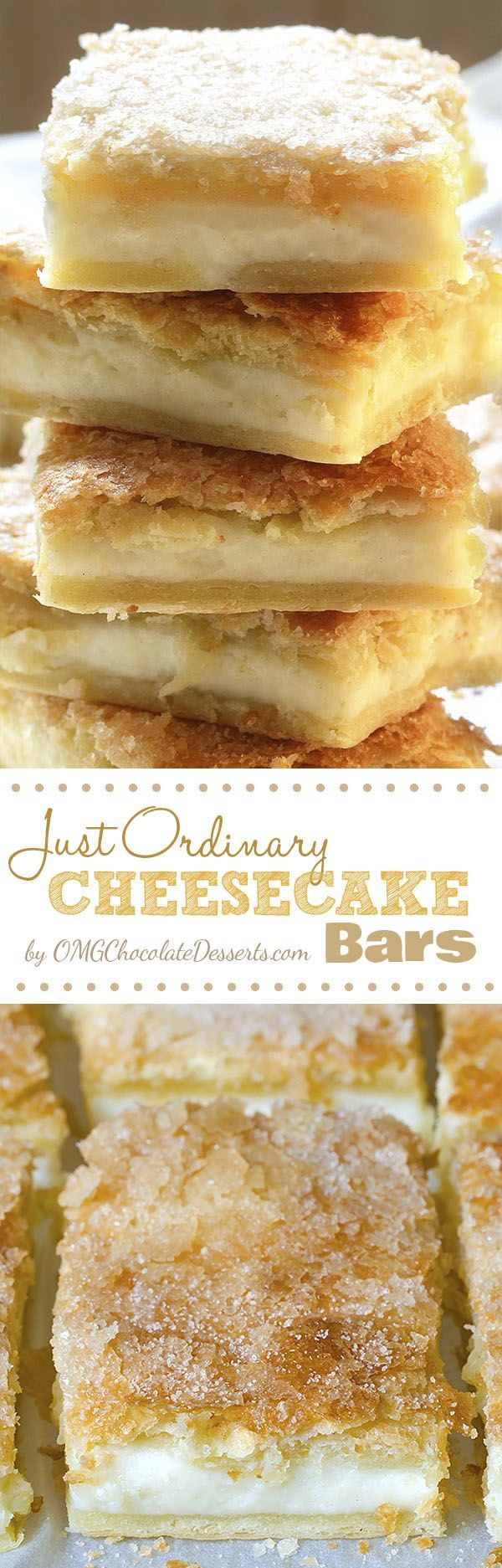 Just Ordinary Cheesecake Bars...Made these last night at the Pampered Chef Party!! So good!!