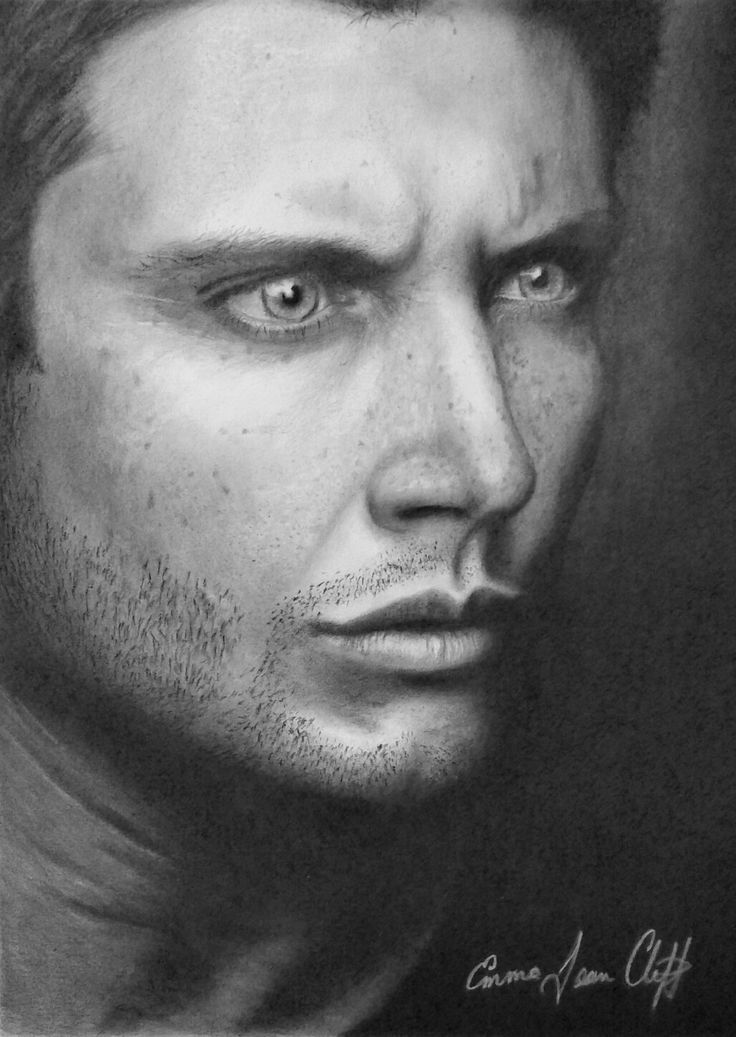 Fan art of Jensen Ackles from the TV show Supernatural. Graphite on fabriono artistico extra white hot press 140lb water colour paper
