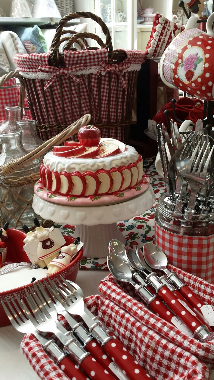 Red & white cake and all...
