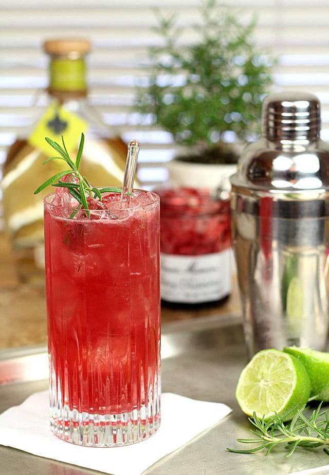 How to Rosemary Cherry Crush with Tequila Cherry Preserves Rosemary and Lime