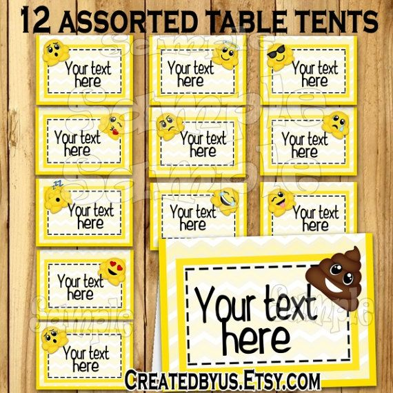 table tent name cards