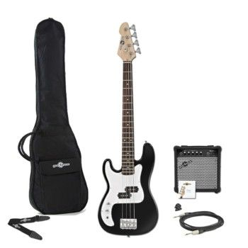 Welcome to the Make4Music - Shop! Your best destination for musical instruments, gear and exclusive content to help you get the sound you're after.  You'll even find an unmatched selection of open-box instruments and gear that ships worldwide!  3/4 LA Left Handed Bass Guitar + 15W Amp Pack Black