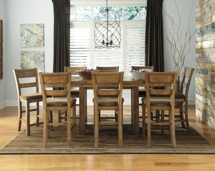 extendable dining room table by signature design by ashley. for pricing and info visit us online at: http://abfmarietta.com · dining room furnituredining tableskitchen tablescountry extendable table by signature design ashley i