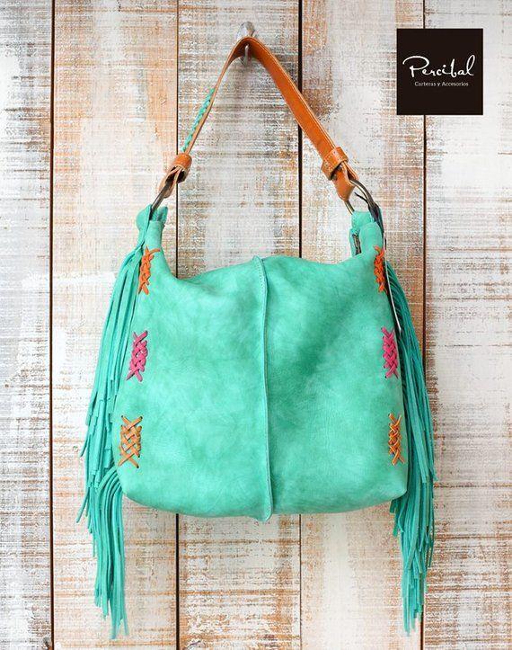 f7fa1861d6df Hobo bag with Fringes Boho chic Fringed leather handbags Handmade Hippie Bag  Hobo purse Tribal fring