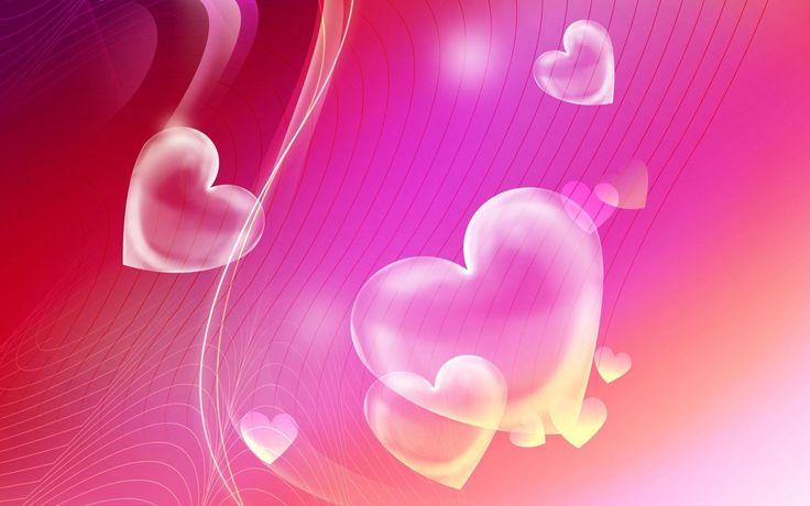 Pink Hearts Wallpaper Widescreen #jSQ
