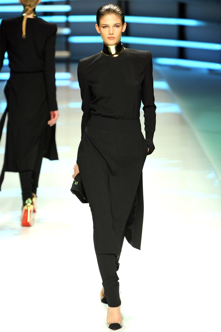 Vietnamese Ao-Dai dress in futuristic modern interpretation. Alexandre Vauthier Haute Couture Spring Summer 2012 collection