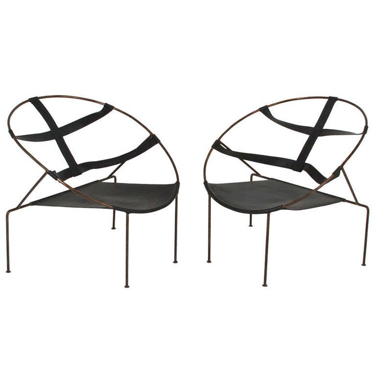 Pair of Brazilian Lounge Chairs by Flavio de Carvalho | From a unique collection of antique and modern lounge chairs at https://www.1stdibs.com/furniture/seating/lounge-chairs/