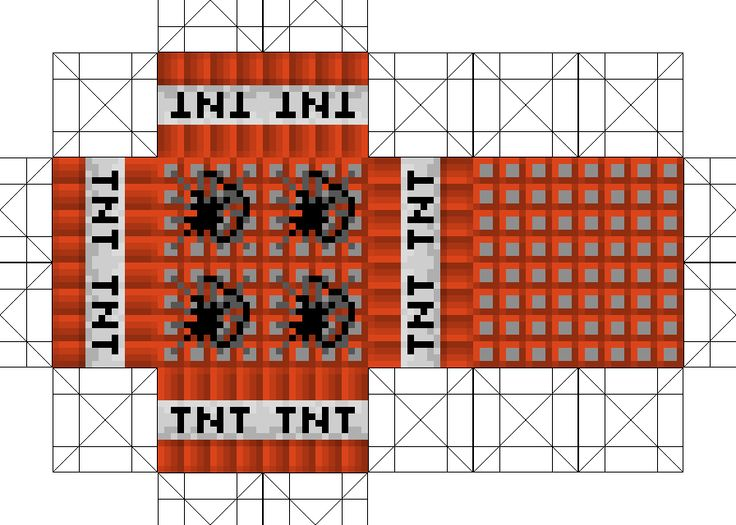 Minecraft tnt printables bing images for Minecraft tnt block template
