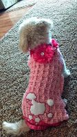 The Crafting Secretary: A Blinged-Up Crochet Dog Sweater
