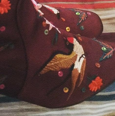 birds and sequins on boots...... nothing else matters @primark #boots #embelushedboots #sequins #primark