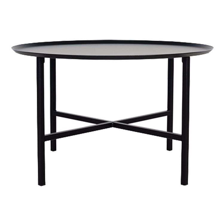Domo Round Cross bord M, svart i gruppen Möbler / Bord / Soffbord hos RUM21.se (1023813)