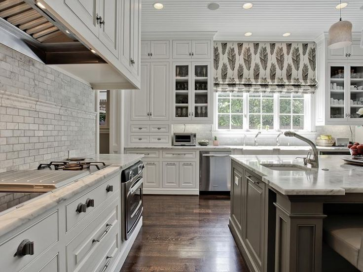 Grey black white kitchen