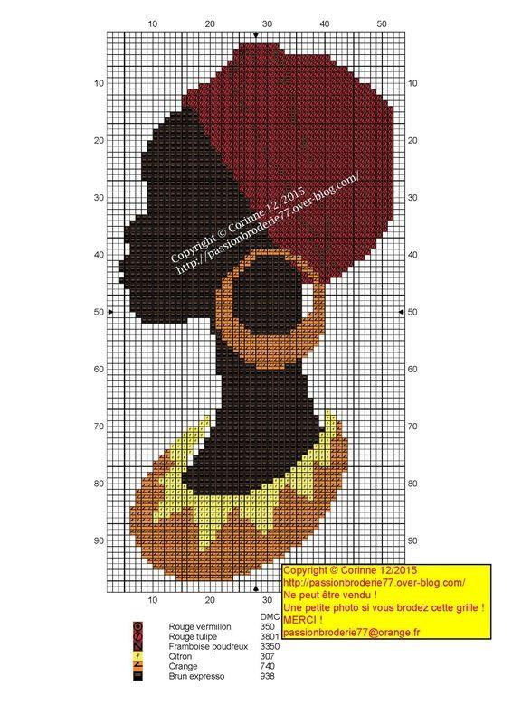 African lady x-stitch 2