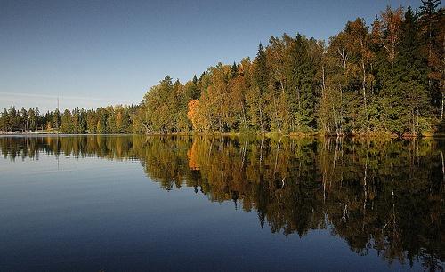 Lake Kuusijärvi autumn