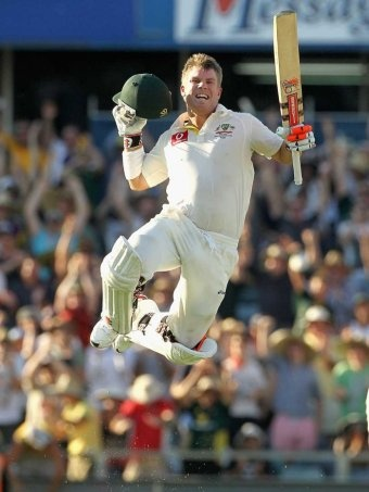 Great photo of cricketer David Warner.  Source: AAP.   Photographer: Unknown.