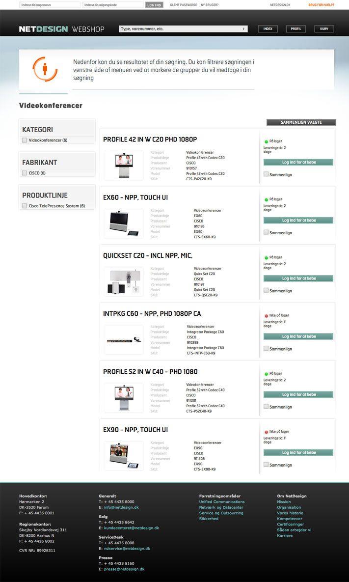1508 - NetDesign. Nettet som salgskanal er oplagt, hvis både kundetilfredshed og indtjening skal øges. Vi skabte en webshop til NetDesign, der reducerer deres udgifter og forbedrer kundeoplevelsen.
