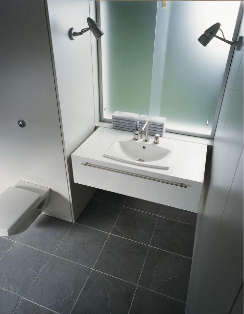 Ideas de ba o estilo moderno color blanco gris for Estilos de banos modernos