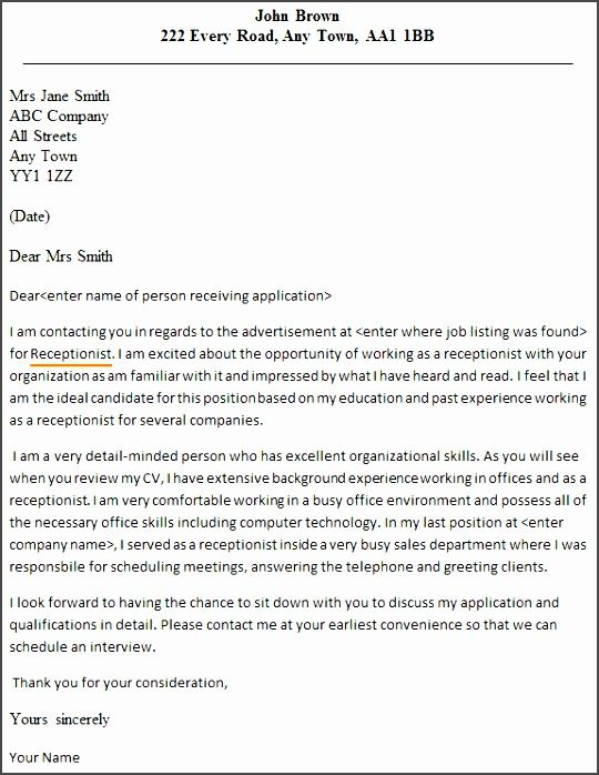 13 best Format On How to Write An Application Letter for A - resume receptionist