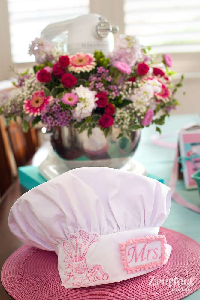 Cooking Themed Bridal Shower decorations!  See more party planning ideas at CatchMyParty.com!