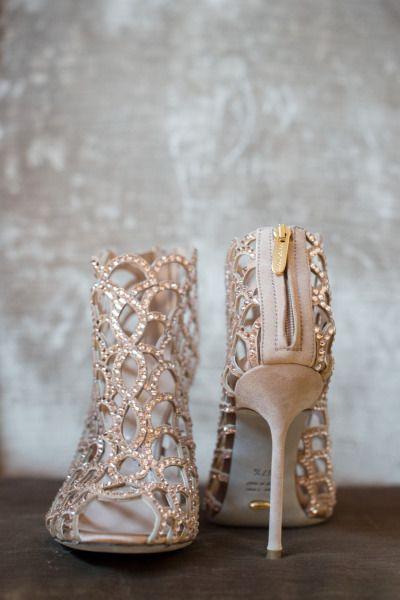 Sparkly wedding shoes: http://www.stylemepretty.com/little-black-book-blog/2014/05/19/bohemian-wedding-at-the-crane-estate/ | Photography: Ned Jackson - http://www.nedjackson.com/