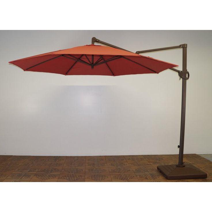 Shade Trends 11 ft. Trigger Lift Cantilever Offset Umbrella Paprika - M952RB-201