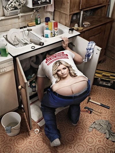 Haha. What if your plumber showed up in this shirt?